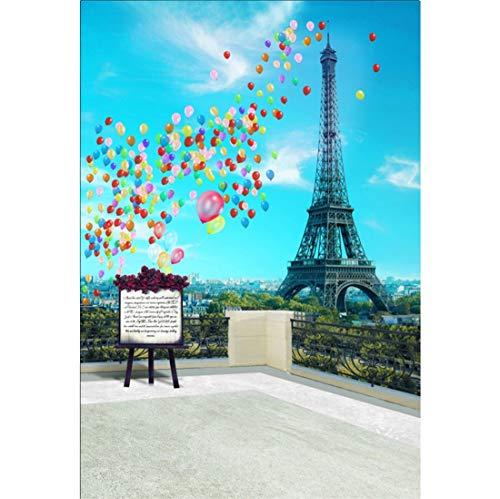 Yeele 5x7ft Eiffel Tower Vinyl Photography Background Paris