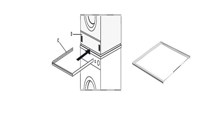 Universell einsetzbarer Artikel 60mm Sicherung liefern wir den Sicherungs-Zurrgurt gleich mit Trockner Verbindungsrahmen Verbindungssatz Zwischenbaurahmen Waschmaschine Universal
