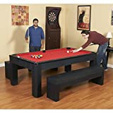 Carmelli NG2530PR Park Avenue 7' Multi-Purpose Pool Table Set with 2 Benches and Top in