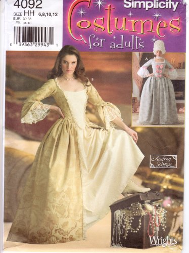 Costume De Louis 14 (Simplicity Sewing Pattern 4092 Misses Costumes, HH (6-8-10-12))
