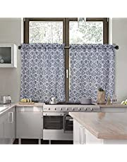 Softan Waterproof Kitchen Curtains, Short Curtains with Sunflower Pattern, Valance with Rod Pocket for Kitchen Bathroom Basement Laundry Room, ( 54 x 15 Inch, 1 Panel )