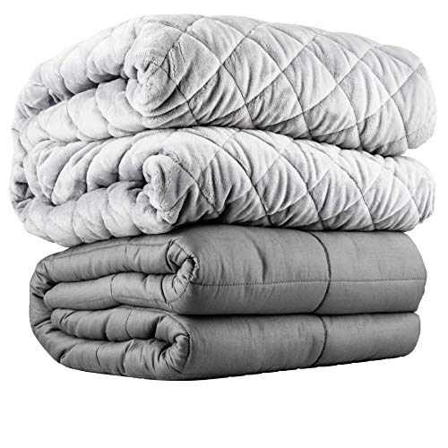 Cheap Vybrant ThermoBalance Eco-Friendly & Organic Cooling Bamboo Weighted Blanket - Made for All Seasons - Hot & Cold Sleepers - Premium Glass Beads - with Luxurious Plush Cover for Adults (60x80 15lbs) Black Friday & Cyber Monday 2019