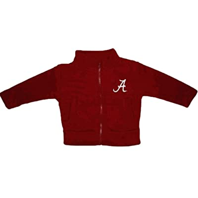 Alabama Crimson Tide NCAA Infant Toddler Fleece Zippered Jacket