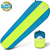 #6: Self Inflating Sleeping Pad – Sleeping Pad - Lightweight Sleeping Pad - Mat for Camping Hiking Backpacking - Premium Insulated Sleeping Mattress for Outdoors - Comfortable Pad (Blue/Yellow)