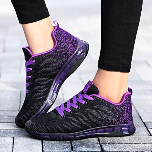 Shoes Gym Sports Student Diadia up Air Lace Net Cushion Casual Sneakers Shoes Sneakers Women Fashion Purple Sneakers Running Yoga 8wgqSTw5