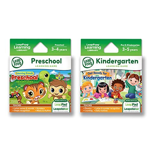 LeapFrog LeapPad Game Cartridges 2-Pack - Get Ready for Kindergarten, Preschool Adventures (Works with LeapPad Platinum, LeapPad Ultra, LeapPad3, LeapPad2, LeapPad1)