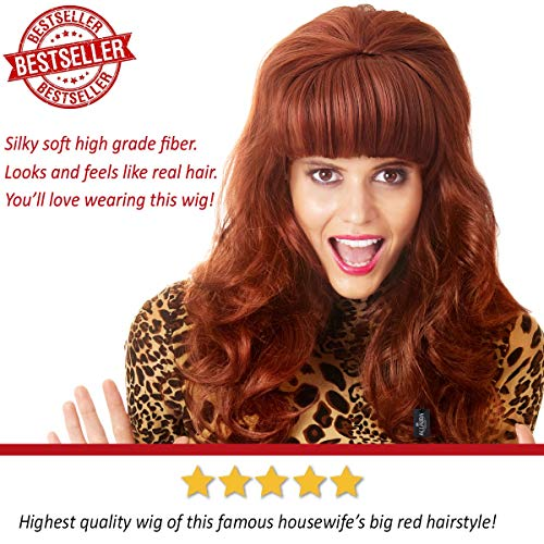 ALLAURA Long Hair Wig – Peggy Bundy Wig for 80's Costumes – Red Wigs for Women by ALLAURA (Image #1)