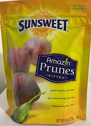 Sunsweet Amazin Prunes Pitted 8oz (Pack of 6) by Sunsweet