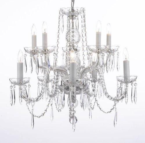 - Crystal Icicle Waterfall Chandelier Lighting Dining Room Chandeliers H25