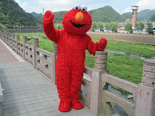 Elmo Mascot (Adult Red Elmo Mascot Costume Cartoon Costume (M 5'7