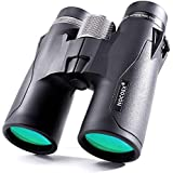 NOCOEX 10x42 HD Roof Prism Compact Binoculars, Water, Fog and Shock Proof, Suitable for Bird Watching, Stargazing and Hunting, Black (10X42-Black)