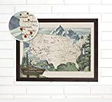 National Parks Personalized Push Pin USA Travel Map Art