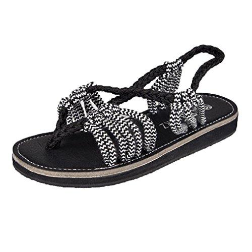 Solike Sandale Femme Été Sandale Plate Femmes Chaussure de Loisir Sandales Ouverte Clip Bout Casual Lacets Sandales Tongs Pantoufles de Ete Flip Flops de Plage 34-42 EU Gris jToOZ0RCs