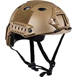 V-Tac Valken Airsoft Tactical Helmet, Earth, Adjustable