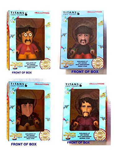 THE BEATLES Yellow Submarine THE ALL TOGETHER NOW COLLECTION - One set of Beatles 4 1/2 Inch Vinyl Figures in 4 Seperate Window Display Boxes - Factory-Sealed UNOPENED - John, - Lennon Sunnies