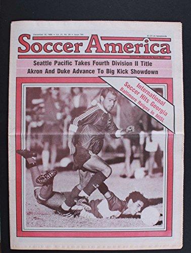 SOCCER AMERICA SEATTLE PACIFIC TAKES FOURTH DIVISION II TITLE DEC 18 1986 RARE