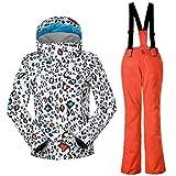 APTRO Girls Ski Suit Kids Snowboarding Windproof Waterproof Jacket and Pants 531 Orange XS