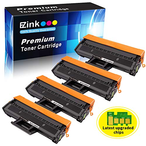 (E-Z Ink (TM) Compatible Toner Cartridge Replacement for Samsung 111S 111L MLT-D111S MLT-D111L to use with Xpress M2020W Xpress M2024W Xpress M2070W Xpress M2070FW Printer (Black, 4 Pack))