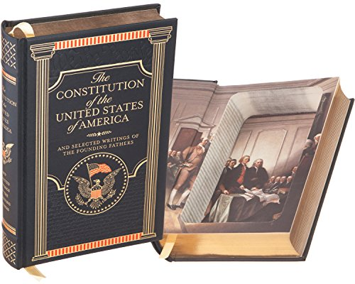 Real Hollow Book Safe - The Constitution of the United States of America by The Founding Fathers (Leather-bound) (Magnetic Closure Optional)
