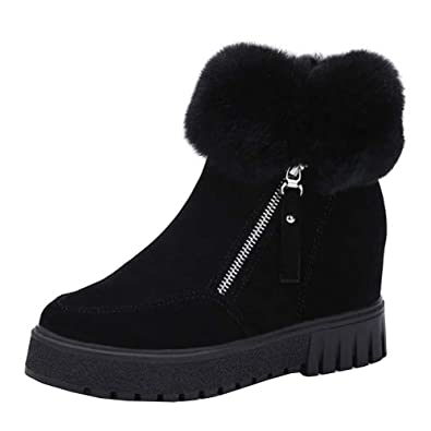 Botas de Nieve Mujer Tacones Altos Botines Zapatos de Plataforma Zapatos Mujer Otoño y Invierno Botas de Nieve Moda Zapatos Botines de Tobillo Mujer Martín ...