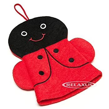 Hand Puppet Terrycloth Bath Mitt. Bath Mitt Friends (Ladybug)