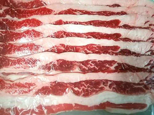 冷凍 牛バラスライス (500g×2パック) 計 1kg 厚めのスライスなので、焼肉やバーベキューに 炒め物にも使い方自在 牛肉 真空パック 小分け カルビ