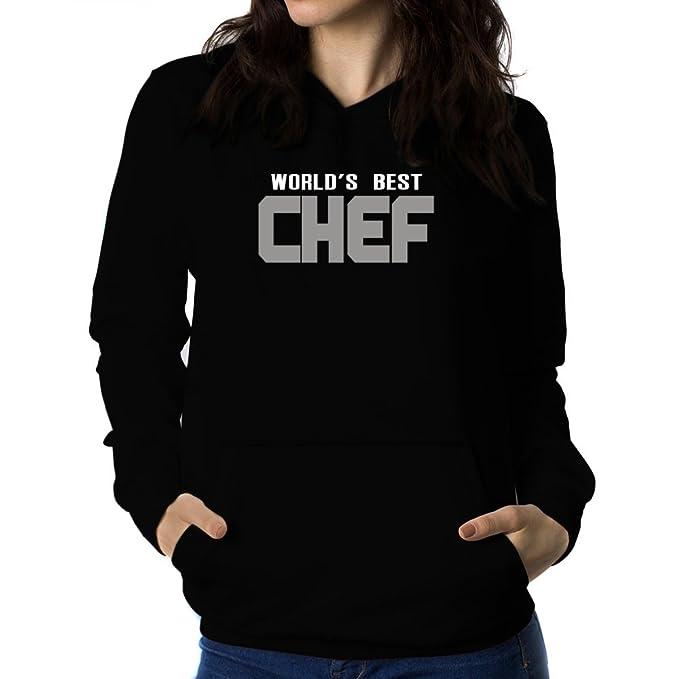 Teeburon WORLDS BEST Chef Sudadera con capucha para mujer
