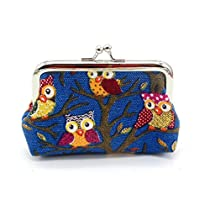 Gotd Women Girl Owl Lovely Style Lady Small Wallet Hasp Purse Clutch Bag (4.7