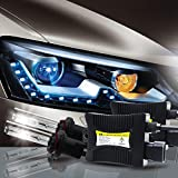 IG Tuning DC 55W HID Xenon Conversion Kit with Digital Slim Ballasts - H11/H8/H9 6000K Pure White
