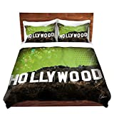 "DiaNoche Designs Hollywood Cover, 2 Twin Duvet Only 68"" x 90"""