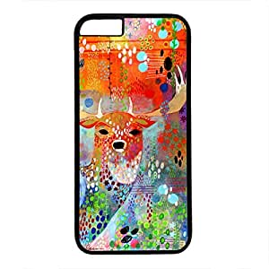 iPhone 6 Case, iCustomonline The Deer in the Thicket Case for iPhone 6 PC Material Black