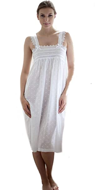 b087fe04655e5 Cotton Real - Chemise de Nuit - Femme Blanc Blanc - Blanc - X-Small
