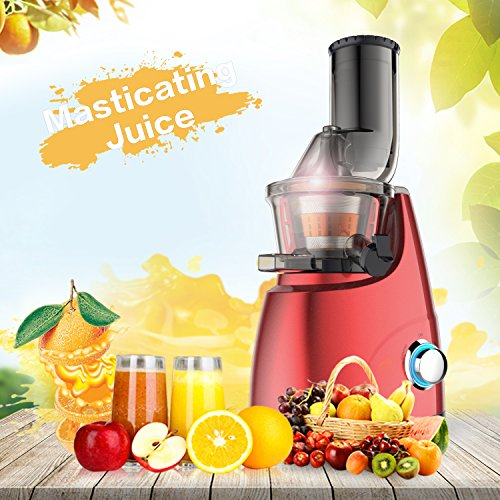 Elechomes CJ201 Slow Masticating Juicer Extractor with Wide Chute (200W AC Motor, 45 RPMs, 3'' Big Mouth) Anti-Oxidation Lower Noisy - Vertical Masticating Cold Press Juicer by Elechomes (Image #3)