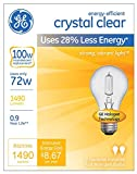 GE Lighting Crystal Clear 72-Watt, (100-watt replacement) 1490-Lumen A19 Light Bulb with Medium Base, (72W, 1490-Lumen)