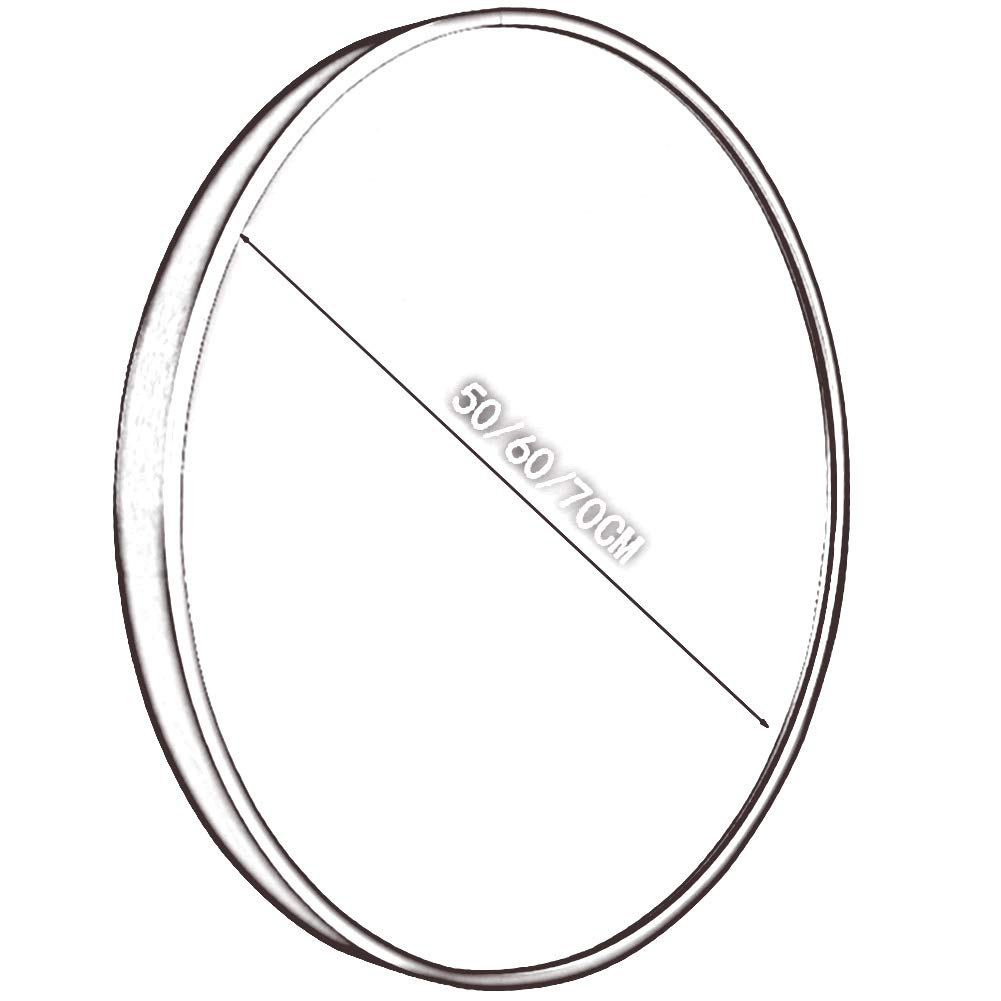 GUOWEI Bathroom Mirror Wall Mount Metal Frame Circular Makeup Decoration Simple, 3 Sizes, 3 Colors (Color : Gold, Size : Diameter -60 cm) by GUOWEI (Image #5)