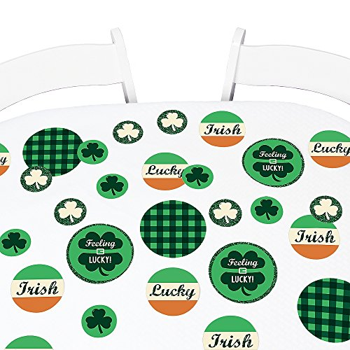 Big Dot of Happiness St. Patrick's Day - Saint Patty's Day Party Giant Circle Confetti - Holiday Party Decorations - Large Confetti 27 Count