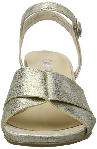 Shoes Gabor Plateado Comfort a Holz para Mujer Cu Sandalias Platino con UwdcCxqrwp