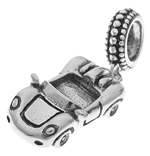 Dreambell 925 Sterling Silver Luxary Racing Car Dangle for European Charm Bracelets (Ford Pandora Charm)