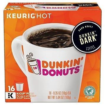 Dunkin Donuts Dark Roast Coffee KCups For Keurig K Cup Brewers 32