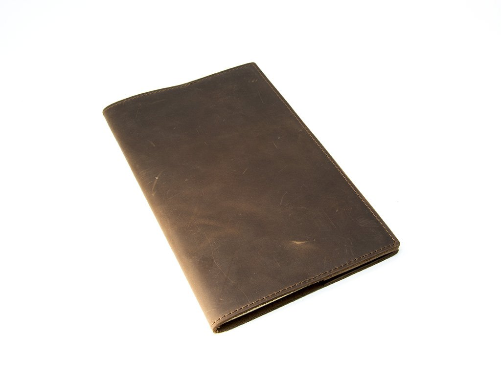 Moleskine Leather Journal Large 5'' x 8.25'' with Lined Pages Handcrafted Crazy Horse Leather Cover Vintage Writing Notebook for Men, Women, Travelers, Business