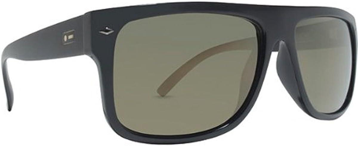 Dot Dash Sidecar Vintage Designer Sunglasses - Black Satin/Gold Chrome