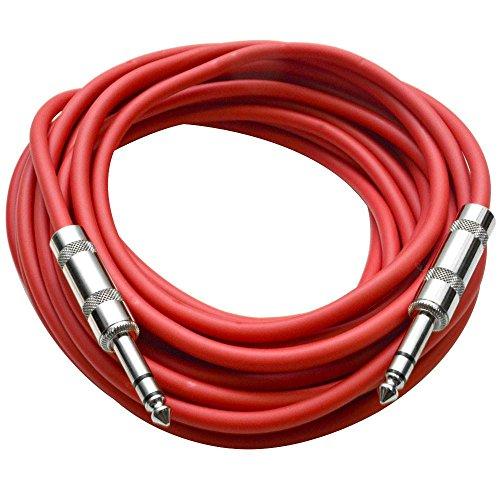 - Seismic Audio - SATRX-25Red - 25 Foot Red 1/4