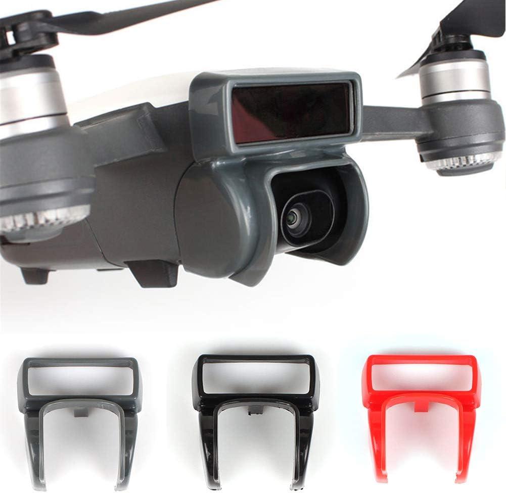 Maserfaliw Lens Hood Sun Shade Lens Hood Glare Gimbal Camera Protector for DJI Spark Drone Accessory Red