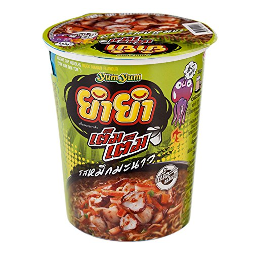 Yum Yum, Tem Tem, Instant Cup Noodles, Muek Manao Flavour, net weight 60 g (Pack of 3 cups) // Beststore by KK8