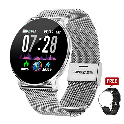 Smartwatches mujer TagoBee TB11 Smartwatch Bluetooth IP68 Pulsera Inteligente Impermeable Reloj Movil HD Touch Screen Fitness Tracker Compatible con Android y iOS para Hombres Mujeres