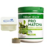 Cheap Vibrant Health – Pro Matcha Natural : Protein + Matcha Tea 15 Servings Bundle with Lumintrail Pill Case