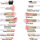 Expxon Premium Makeup Brush Set,Foundation Brush Blending Face Powder Blush Concealers Eye Shadows Make up Brushes Kit