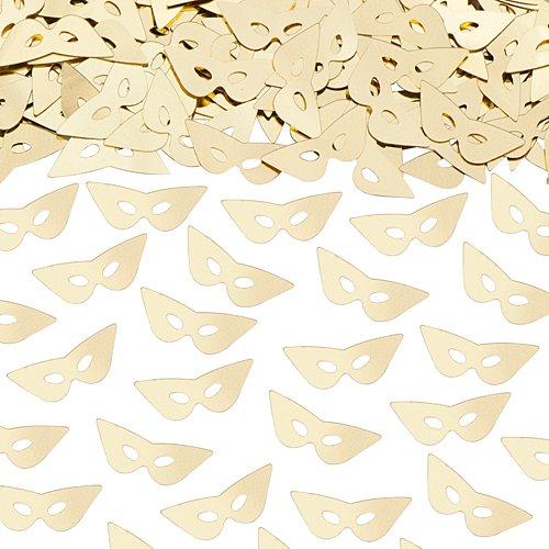 Mask Confetti Gold190; Oz Pkg by - Confetti Mask