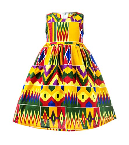 African Print Baby Dress, Ankara Baby Dress, African Baby Clothes, African Children Dress, Ankara Kids (Kente Dress, M)