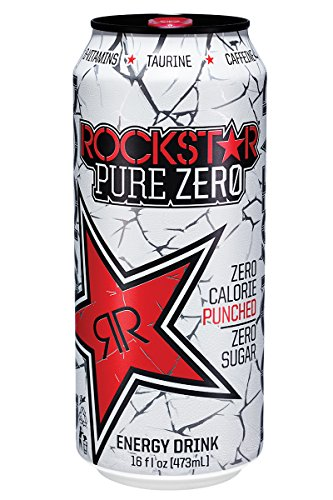 Rockstar Pure Zero Punched Energy Drink, 16  Fl. Oz (24 Cans)
